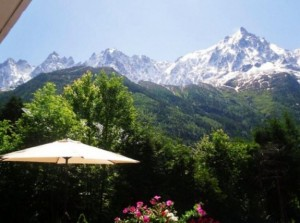 View from Chamonix business training seminar location